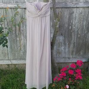 Davids Bridal biscotti dress